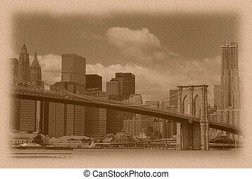 Vintage Manhattan Skyline