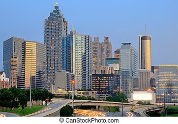 Atlanta Skyline - The skyline of downtown Atlanta, Georgia.