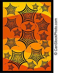 Halloween spiders web