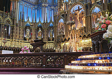 The Notre-Dame Basilica in Montreal French: Basilique...