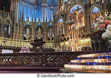 a, notre-senhora, basílica, Montreal