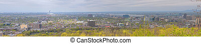 Panoramic image of Montreal from Mount Royal