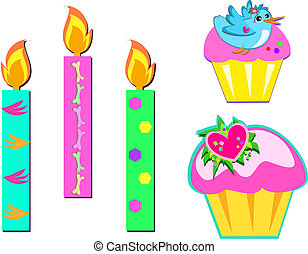 Mix of Cupcakes and Candles