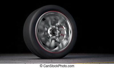 burnout wheel loop