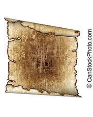 vintage grunge textured parchment scroll, antique background texture of a paper page, highly detailed