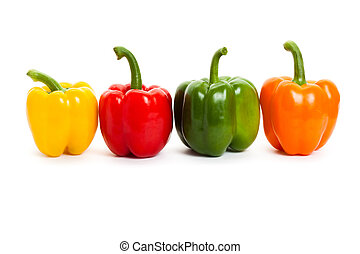 Bell Pepper with white background