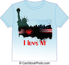 Trendy T-Shirt design with New Yor