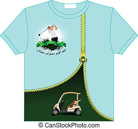 Trendy T-Shirt design with Golf cl