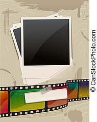 photo frame - retro photo frame template with film
