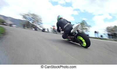 Racing biker