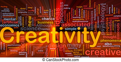 Creativity creative background concept glowing