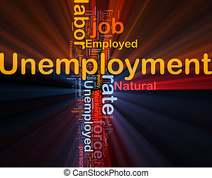 Unemployment job background concept glowing - Background...