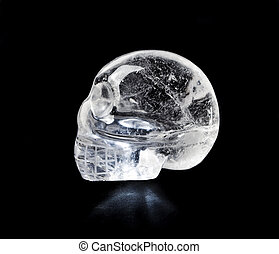 Crystal skull - Traditional Central American quartz crystal...