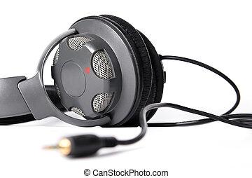 Isolated closed dj headphones