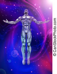 CHROMEMAN_Positive Energy - An illustration of chrome man...