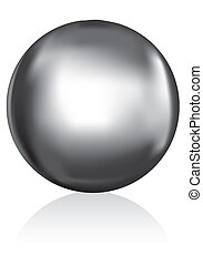 silver metal ball - illustration of a shiny metal ball or...