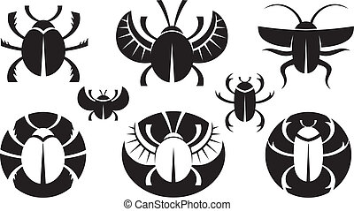 Bugs - BG various icons of bugs