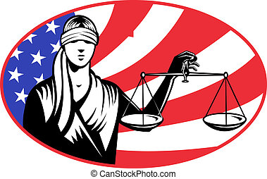 lady blindfold scales of justice american stars and stripes...