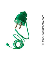 Power plug to power cord - A power connector and a power...