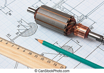 rotor of electromotor and  drawing