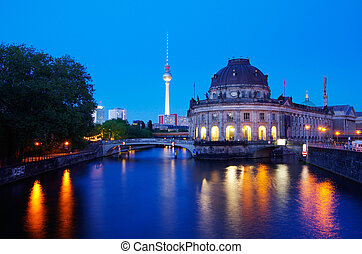 berlin museumsinsel - museum insula with bode museum in...