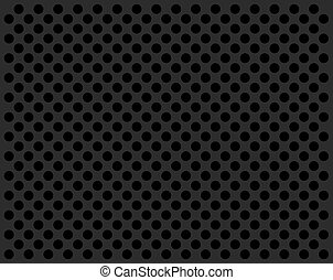 Perforate gray flat with black circles