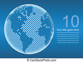Digital world map design. - Digital world map design with...