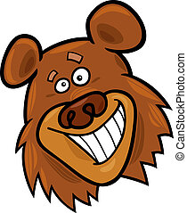 funny bear - cartoon illustration of funny bear