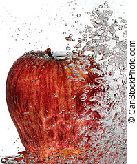 Bubbly Red Delicious - A ripe, red delicious apple with...