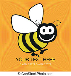 Bumble bee design - Bumble bee design with copy space