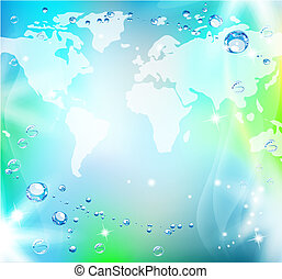 World map abstraction - Abstract world map background...