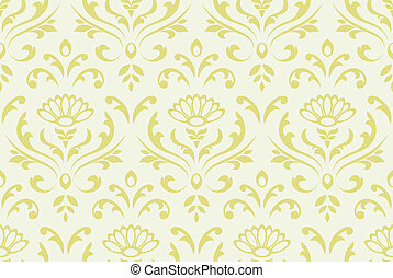 Classic seamless floral background.