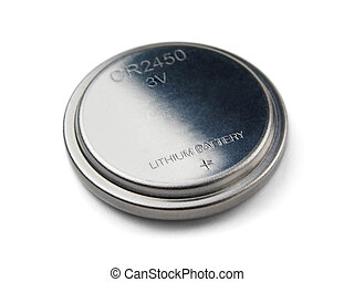 Button battery - Lithium button cell battery isolated on...