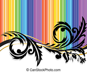 black pattern on a bright background - Black horizontal...
