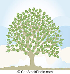 Park trees4 - Tree with a roundish crone A vector...