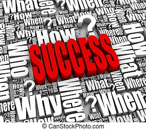 Success Strategy - Group of success related 3D words. Part...
