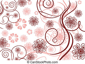 Pattern with lines and flowers - Beautiful pattern with...