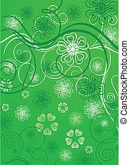 Flowers in green