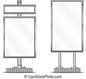 Blank vertical billboard - View of blank highway vertical...
