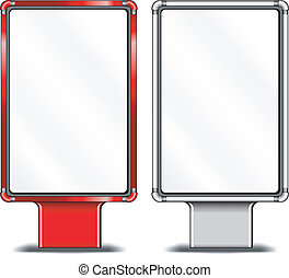 Vertical billboards - View of blank vertical billboards for...