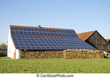 Green energy - Old farm house with innovative photovoltaic...