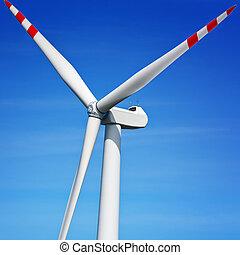 Turbine on blue sky
