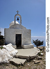 White chapel on top of the Dikeos - White chapel on top of...