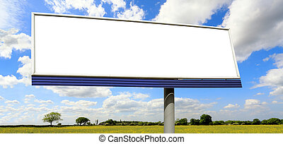 Bilboard on blue sky
