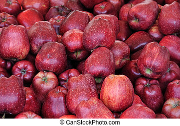 red apples fruit background