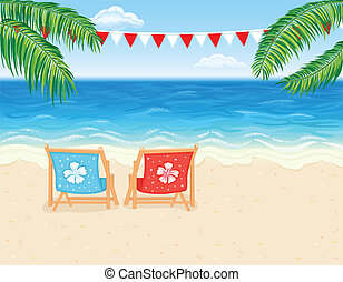 Vacation at tropical beach - Vacation in paradise - tropical...