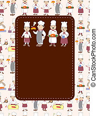 cartoon chef card