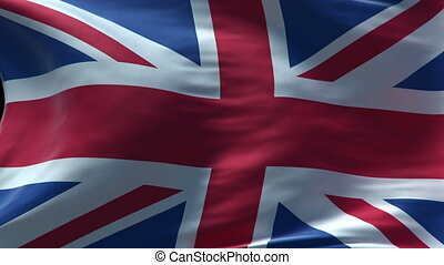 britain flag waving loop high resolution texture in HD