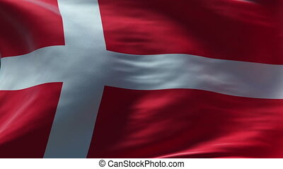 denmark flag waving loop high resolution texture in HD