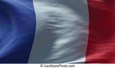france flag waving loop